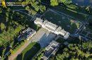 Ménars, France - 25 Juin 2011: Photo aérienne du chateau de Ménars 41