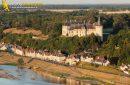 Chaumont, France - 26 Juin 2011: Château de Chaumont sur Loire vu d'un Ulm