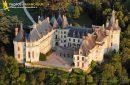 Chaumont, France - 26 Juin 2011: Vue aérienne du  Château de Chaumont