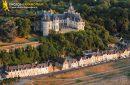 Chaumont, France - 26 Juin 2011: Vue aérienne du Château de Chaumont sur Loire