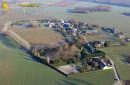 Favière village seen from the sky in Eure-et Loir department