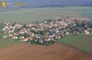 Boinvilliers village seen from the sky in Yvelines department