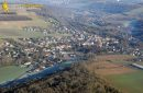 Vert village seen fron the sky in Yvelines department, France