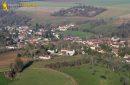 Aerial view of Chaussy en vexin, in Ile-de-France region
