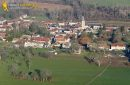 Chaussy seen from the sky, in Val-d'Oise department, France