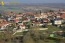 Omerville village  seen from the sky in Ile-de-France region , France