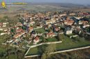 Omerville old town seen from the sky in Val-d'Oise department, France