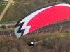 Vue aérienne d'un ULM paramoteur